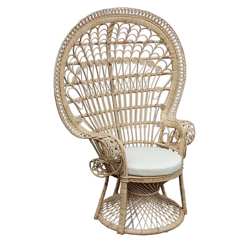 Καρέκλα Peacock rattan natural 115x72x149cm Inart 3-50-908-0002