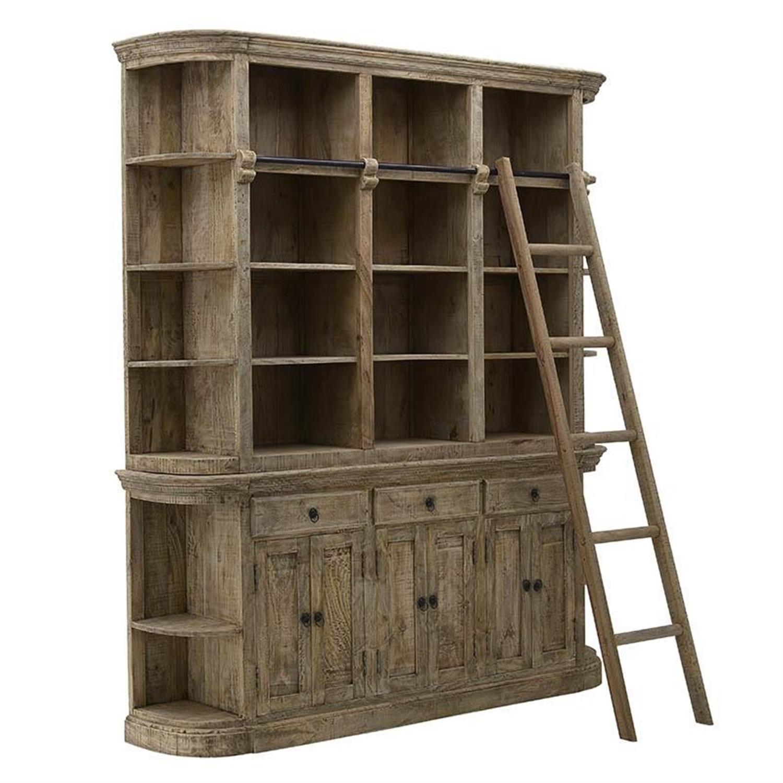 Βιτρίνα ξύλινη natural 200x40x230cm Inart 3-50-189-0047