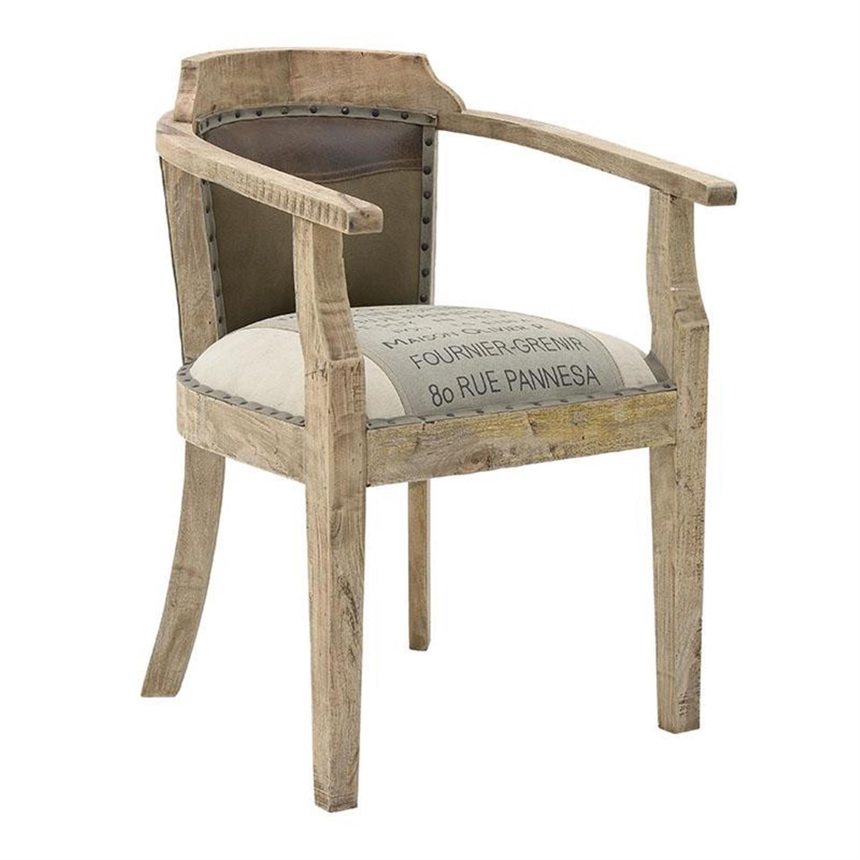 Καρέκλα υφασμάτινη/δερμάτινη μπεζ 64x57x86cm Inart 3-50-189-0026