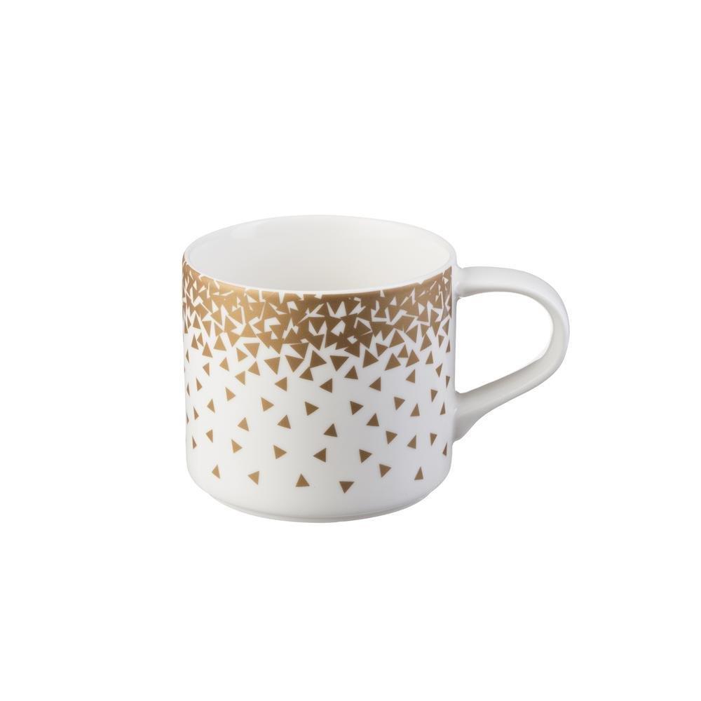Κούπα Confetti 410ml πορσελάνινη λευκή/copper P&K 8020222