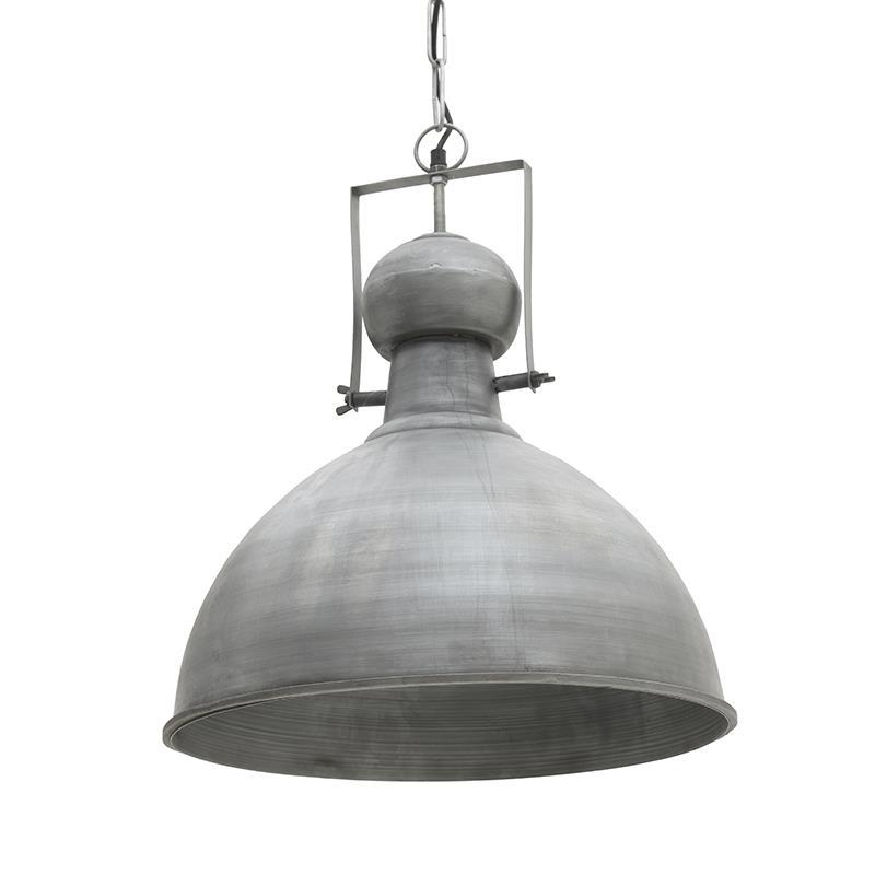 Φωτιστικό οροφής μεταλλικό ασημί 43x43x49cm Inart 3-10-189-0023