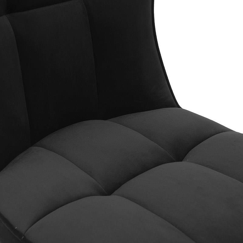 Καρέκλα βελούδινη μαύρη 58x50x92cm Inart 3-50-033-0007