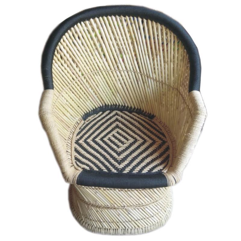 Καρέκλα μπαμπού μαύρη/natural 65x55x90cm Inart 3-50-492-0002