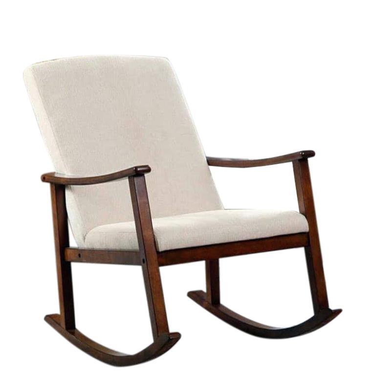 Καρέκλα κουνιστή ξύλινη καφέ/εκρού 64x85x93cm Inart 3-50-853-0022