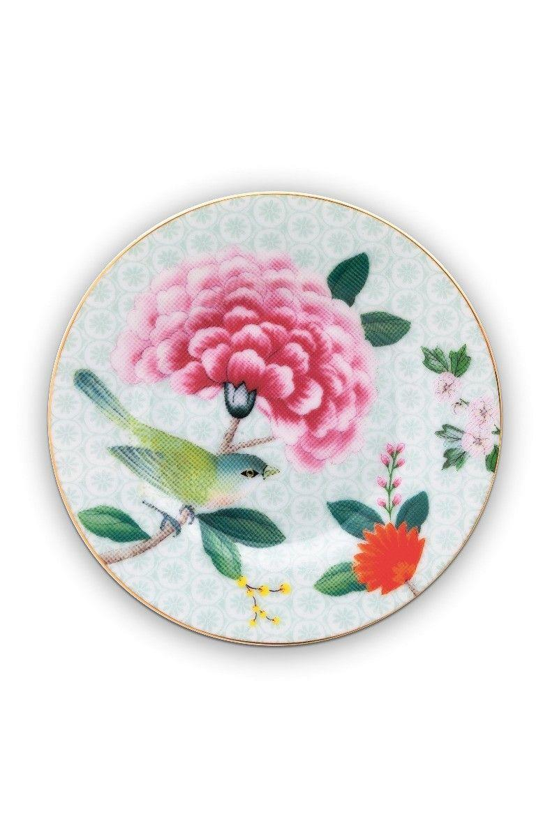 Πιάτο γλυκού Petit Four Blushing Birds Whit πορσελάνινο πολύχρωμο Δ12cm Pip Studio 51001197