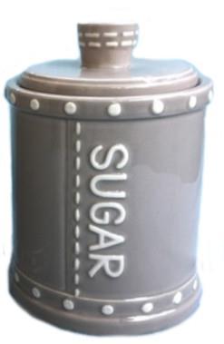 Βάζο ζάχαρης κεραμικό γκρι 16.5cm