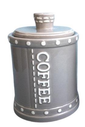 Βάζο καφέ κεραμικό γκρι 16.5cm