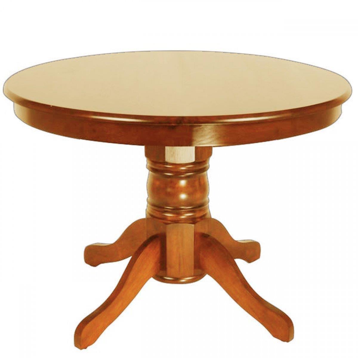 Τραπέζι ροτόντα ανοιγόμενο Kentucky-W ξύλινο σκούρο καρυδί Δ107x76cm Home Plus 02.01.0089