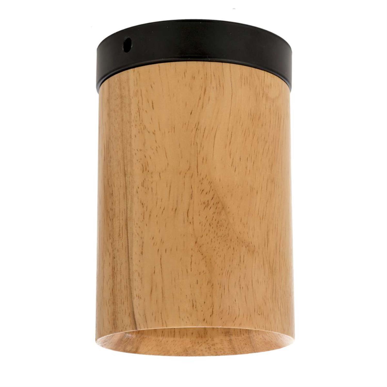 Φωτιστικό οροφής ξύλινο/μεταλλικό natural/μαύρο 10x15cm Inlight 42158-B