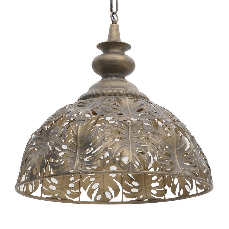 Φωτιστικό οροφής μεταλλικό χρυσό 50x155cm Inart 3-10-087-0073