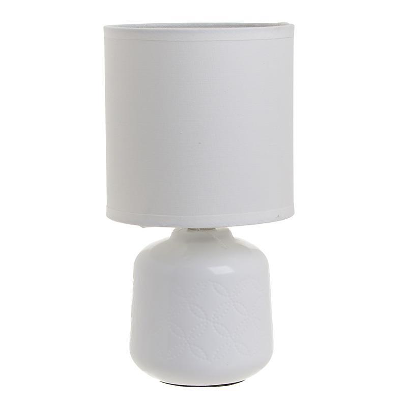 Φωτιστικό επιτραπέζιο κεραμικό λευκό 12.5x24cm Inart 3-15-958-0019