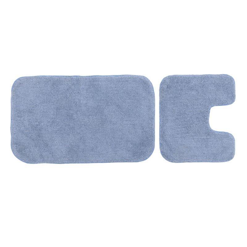 S/2 Πατάκι μπάνιου βαμβακερό/pp μπλε 50x80cm Inart 6-40-803-0014