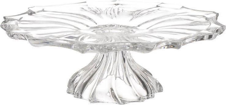 Τουρτιέρα γυάλινη διαφανή 33.5×33.5x11cm Inart 6-70-504-0005