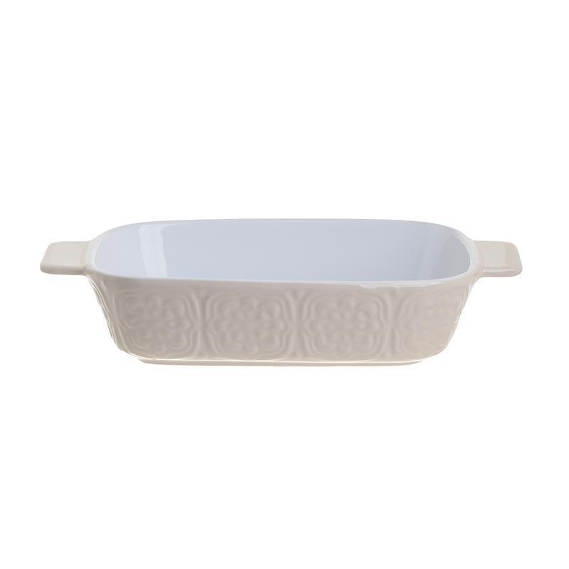 Σκεύος φούρνου πυρίμαχο κεραμικό λευκό/εκρού 28.5×16.5x6cm Inart 6-60-088-0001