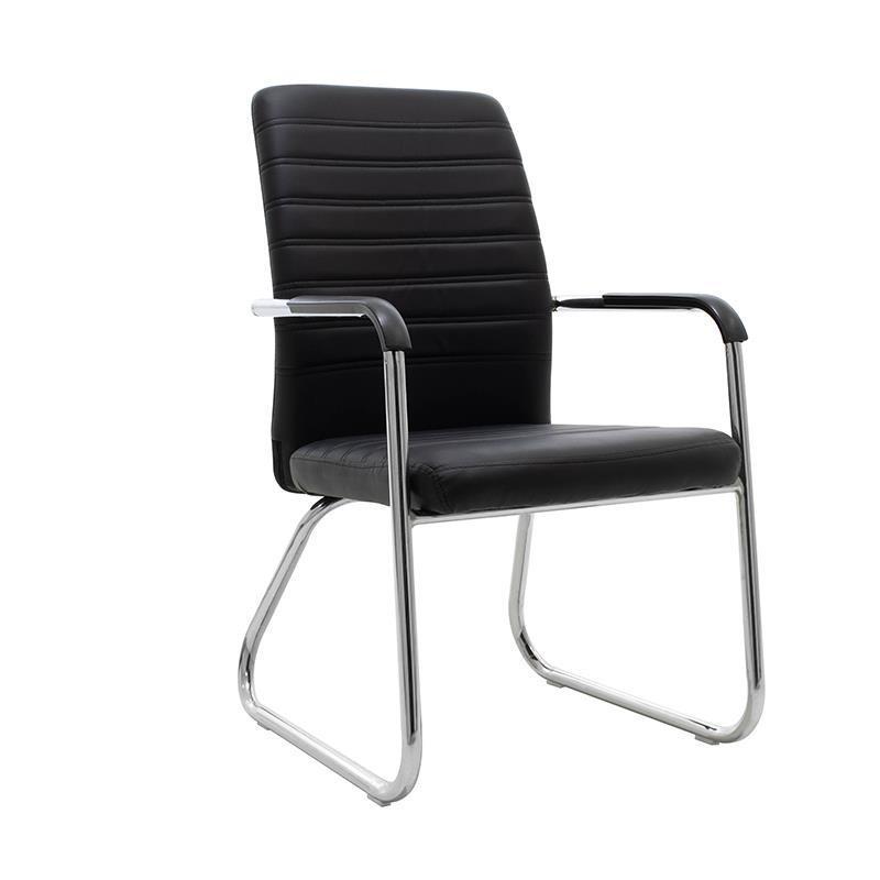 Καρέκλα γραφείου μεταλλική/δερματίνη μαύρη/ασημί Inart 6-50-676-0031