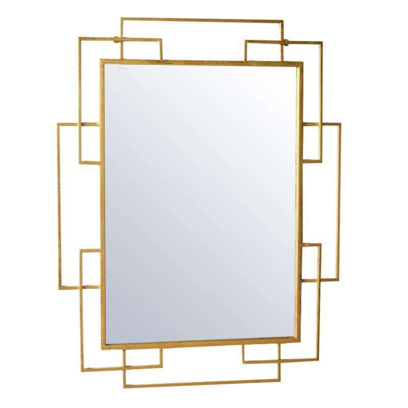 Καθρέπτης τοίχου μεταλλικός χρυσός 70x2x90cm Inart 3-95-161-0023
