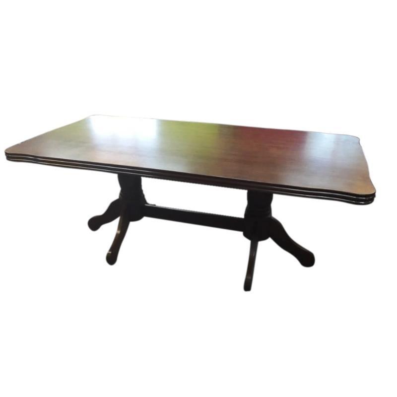 Τραπεζαρία ξύλινη καφέ 200x100x77.5cm Inart 3-50-836-0007