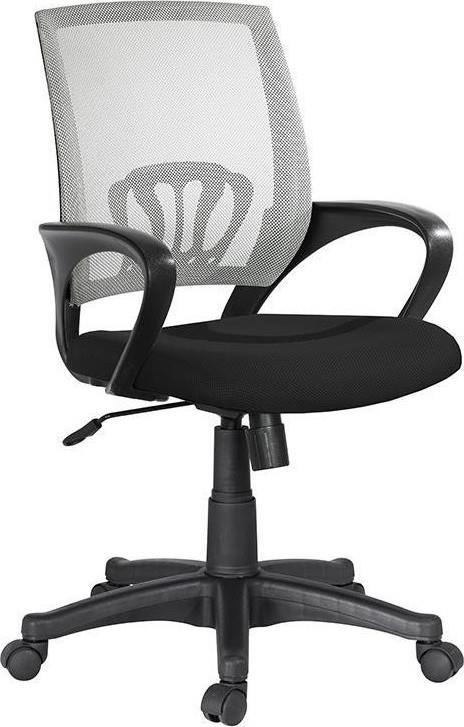 Καρέκλα γραφείου γκρι/μαύρη 55x56x90cm Inart 6-50-592-0003
