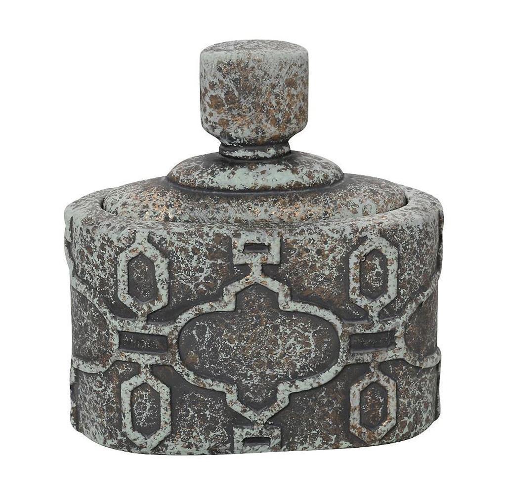 Δοχείο με καπάκι κεραμικό γκρι 31×17.5×10.5cm Espiel ANK107
