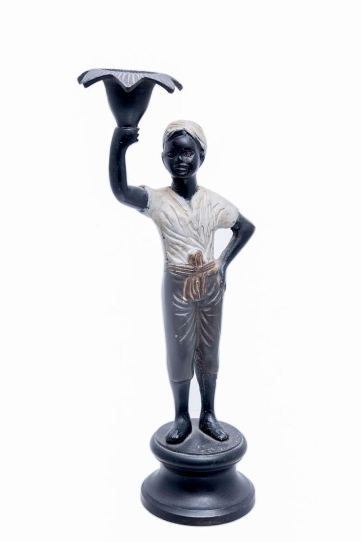 Κηροπήγιο αγόρι μαύρο κεραμικό