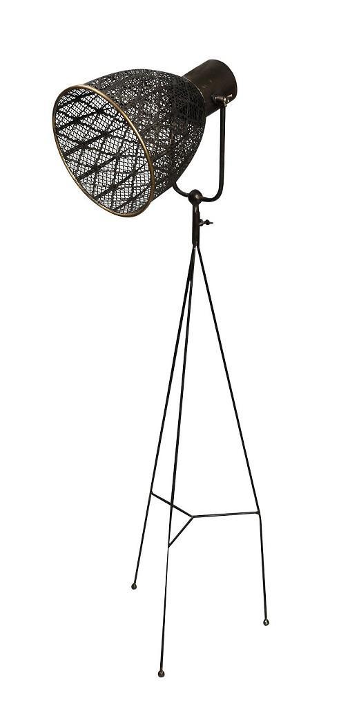 Φωτιστικό δαπέδου μεταλλικό καφέ 114.5×22.5cm Espiel FUT202