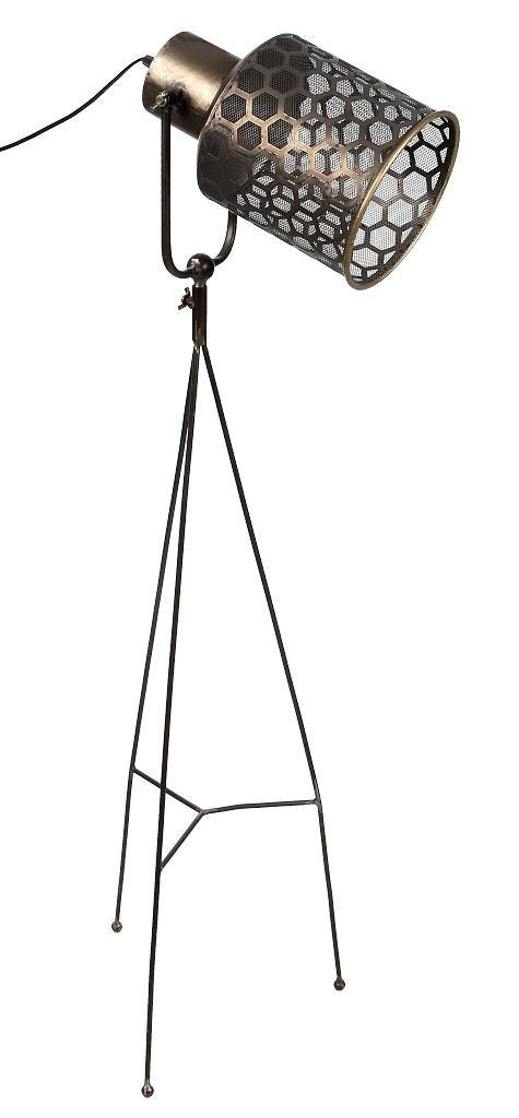 Φωτιστικό δαπέδου μεταλλικό καφέ 113.5×19.2cm Espiel FUT214