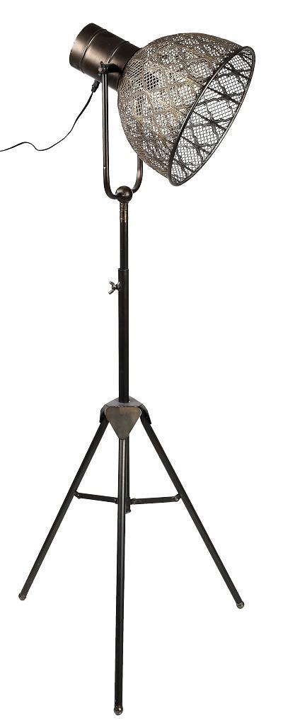 Φωτιστικό δαπέδου μεταλλικό καφέ 131.5×32.5cm Espiel FUT215