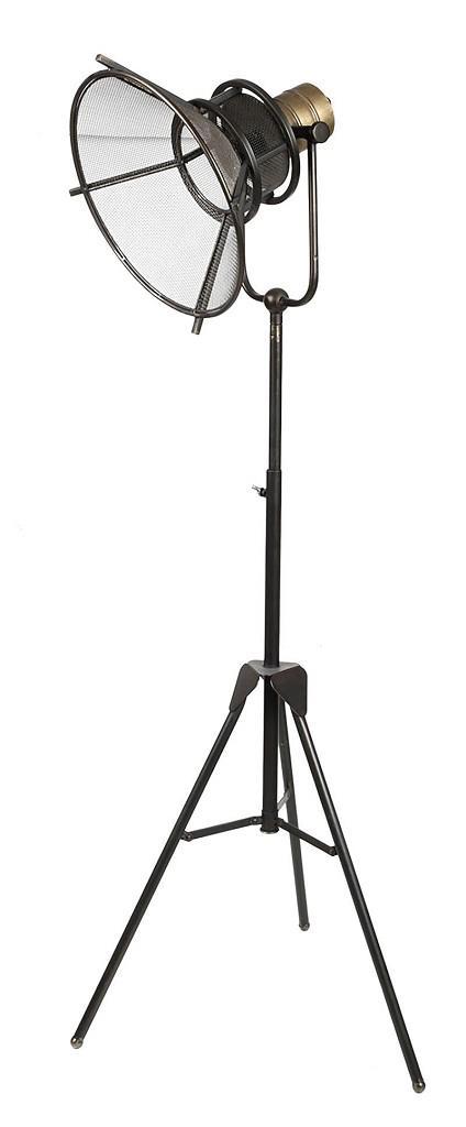 Φωτιστικό δαπέδου μεταλλικό καφέ 129x43cm Espiel FUT220