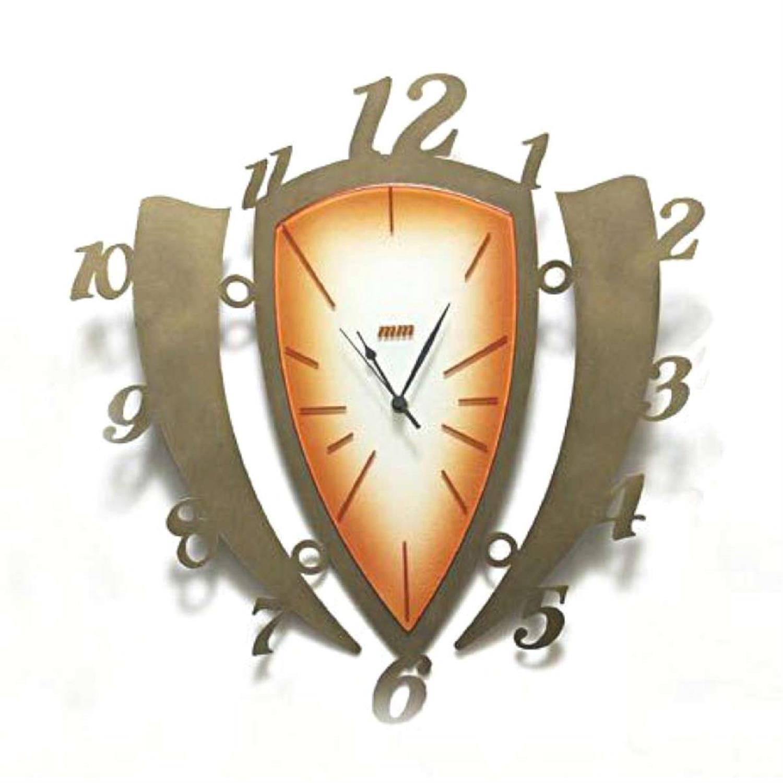 Ρολόι τοίχου Aitorf χειροποίητο μεταλλικό με φυσητό γυαλί 52.6×54.5cm Moda Mostra MR322