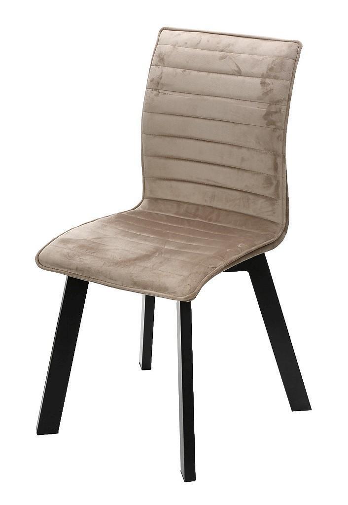 Καρέκλα υφασμάτινη μπεζ/μαύρη 43x55x89.5cm Espiel KLE101