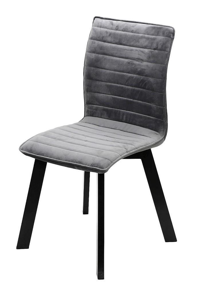Καρέκλα υφασμάτινη γκρι/μαύρη 43x55x89.5cm Espiel KLE102
