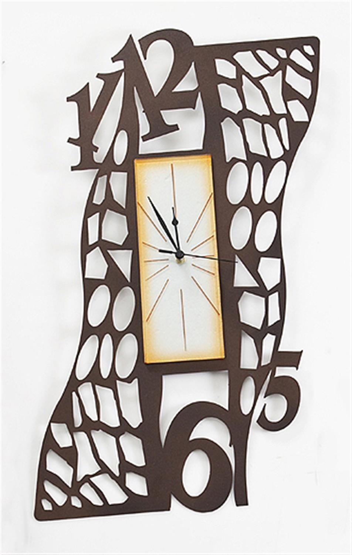Ρολόι τοίχου Θεμιστώ χειροποίητο μεταλλικό με φυσητό γυαλί 43.4×70.2cm Moda Mostra MR363