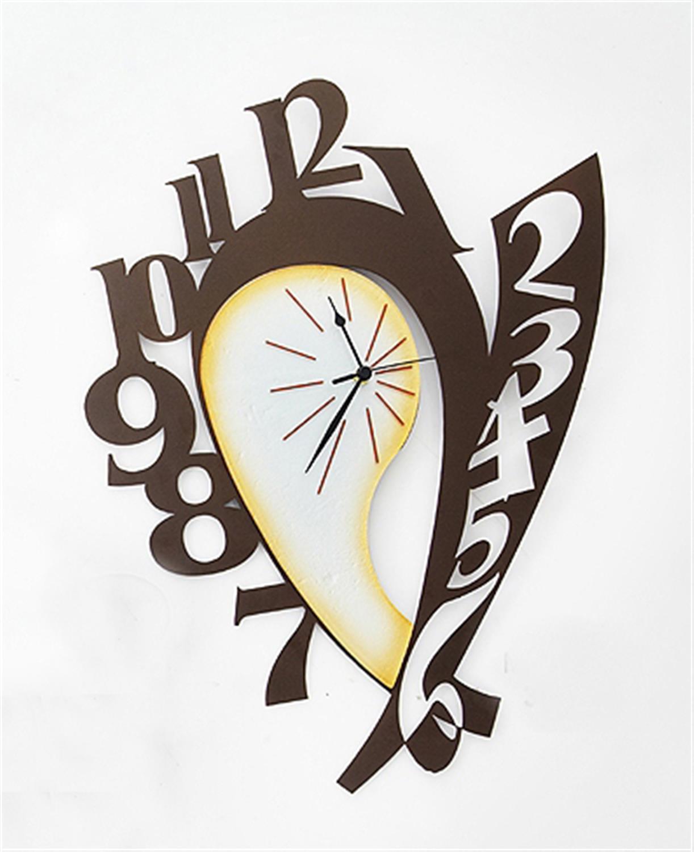 Ρολόι τοίχου Νησώ χειροποίητο μεταλλικό με φυσητό γυαλί 45.5×58.6cm Moda Mostra MR366