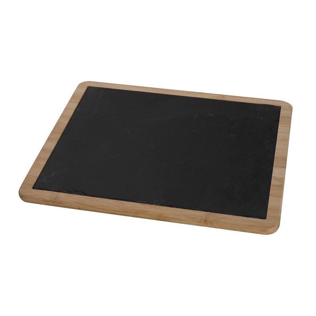 Πλατώ σερβιρίσματος πέτρα/μπαμπού μαύρο 36x31x1.2cm Espiel LAP103