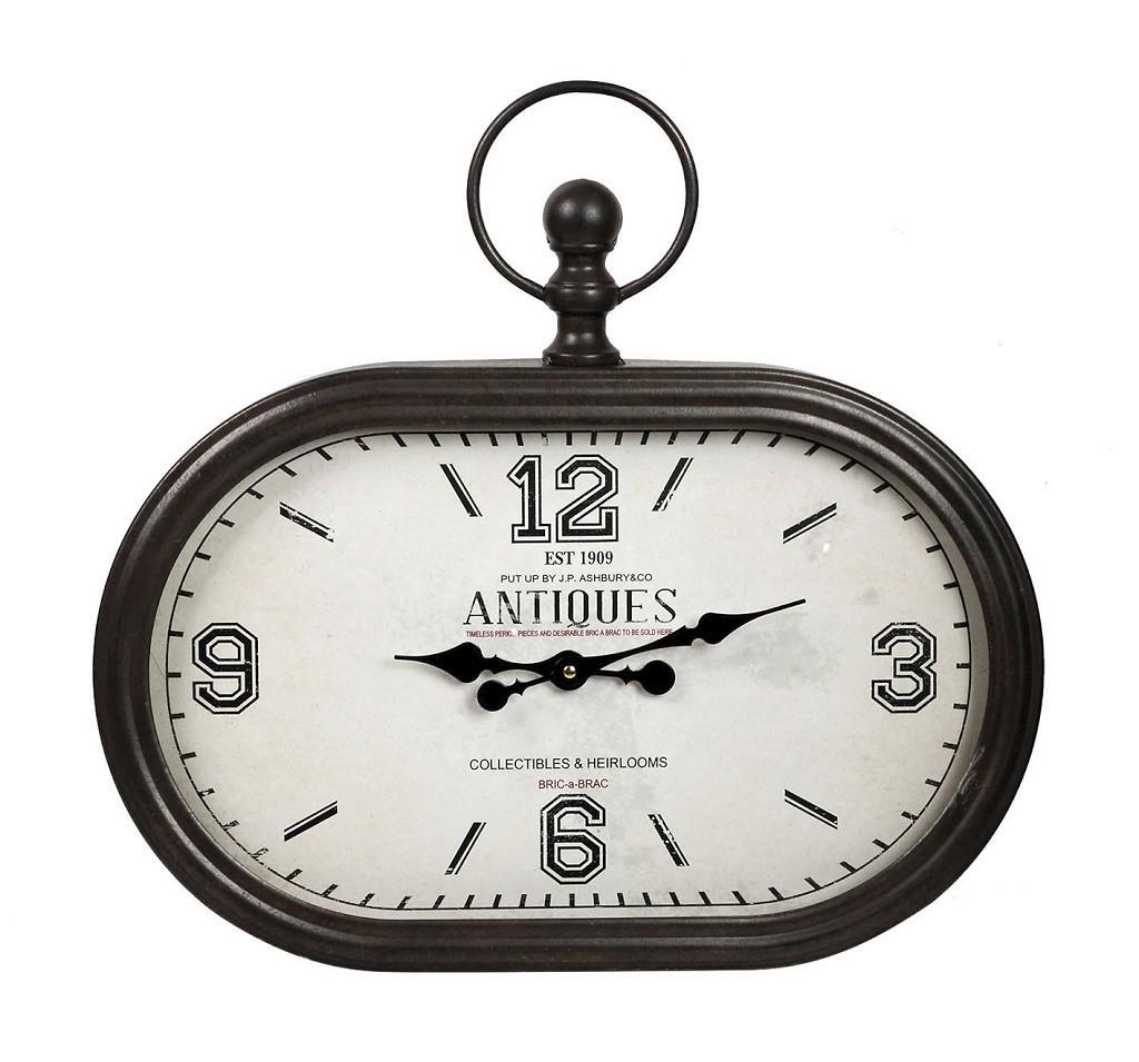 Ρολόι τοίχου μεταλλικό μαύρο 50cm Espiel LOG513
