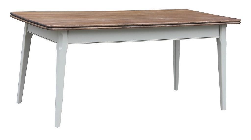Τραπέζι ξύλινο λευκό/καφέ 180x90x75cm Espiel PIL108