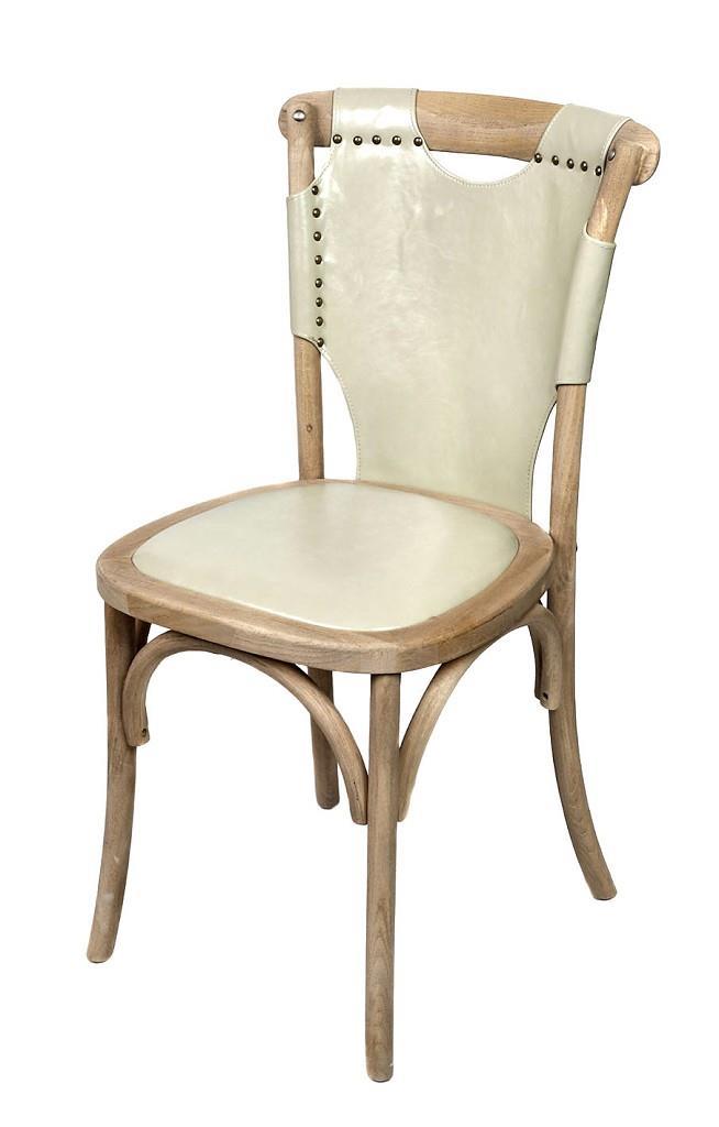Καρέκλα PU μπεζ/καφέ 50x53x89cm Espiel REK101