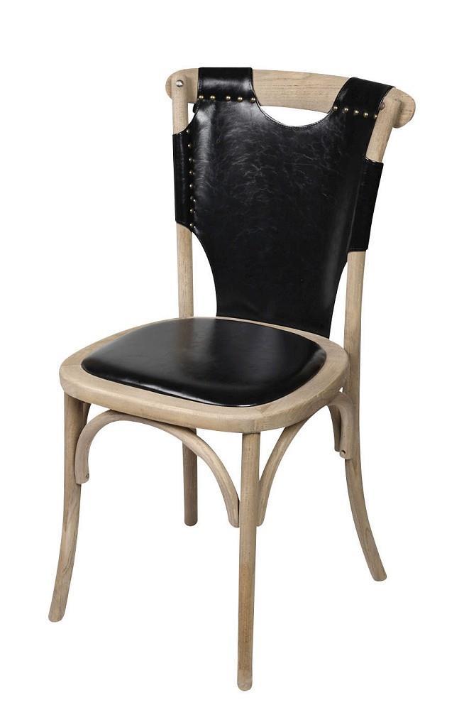 Καρέκλα PU μαύρο/καφέ 50x53x89cm Espiel REK102