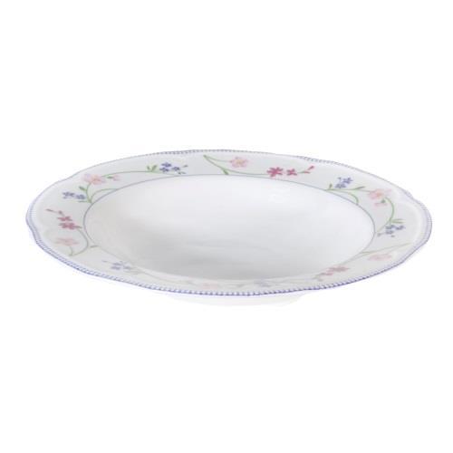 Πιάτο βαθύ Floral πορσελάνινο πολύχρωμο Δ23.5cm