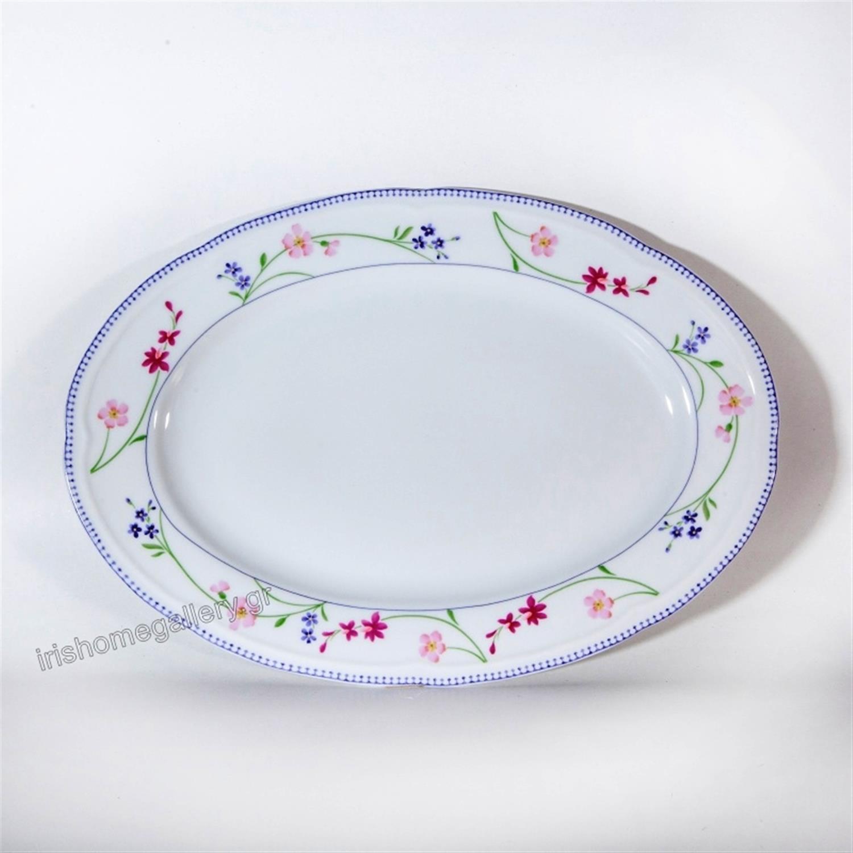 Πιατέλα σερβιρίσματος Floral πορσελάνινη πολύχρωμη Δ32cm