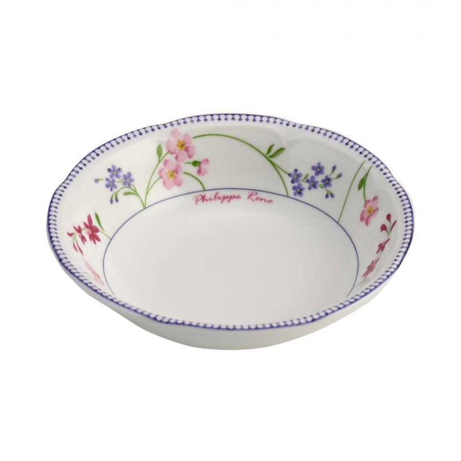 Μπωλ σερβιρίσματος Floral πορσελάνινο πολύχρωμο Δ14cm