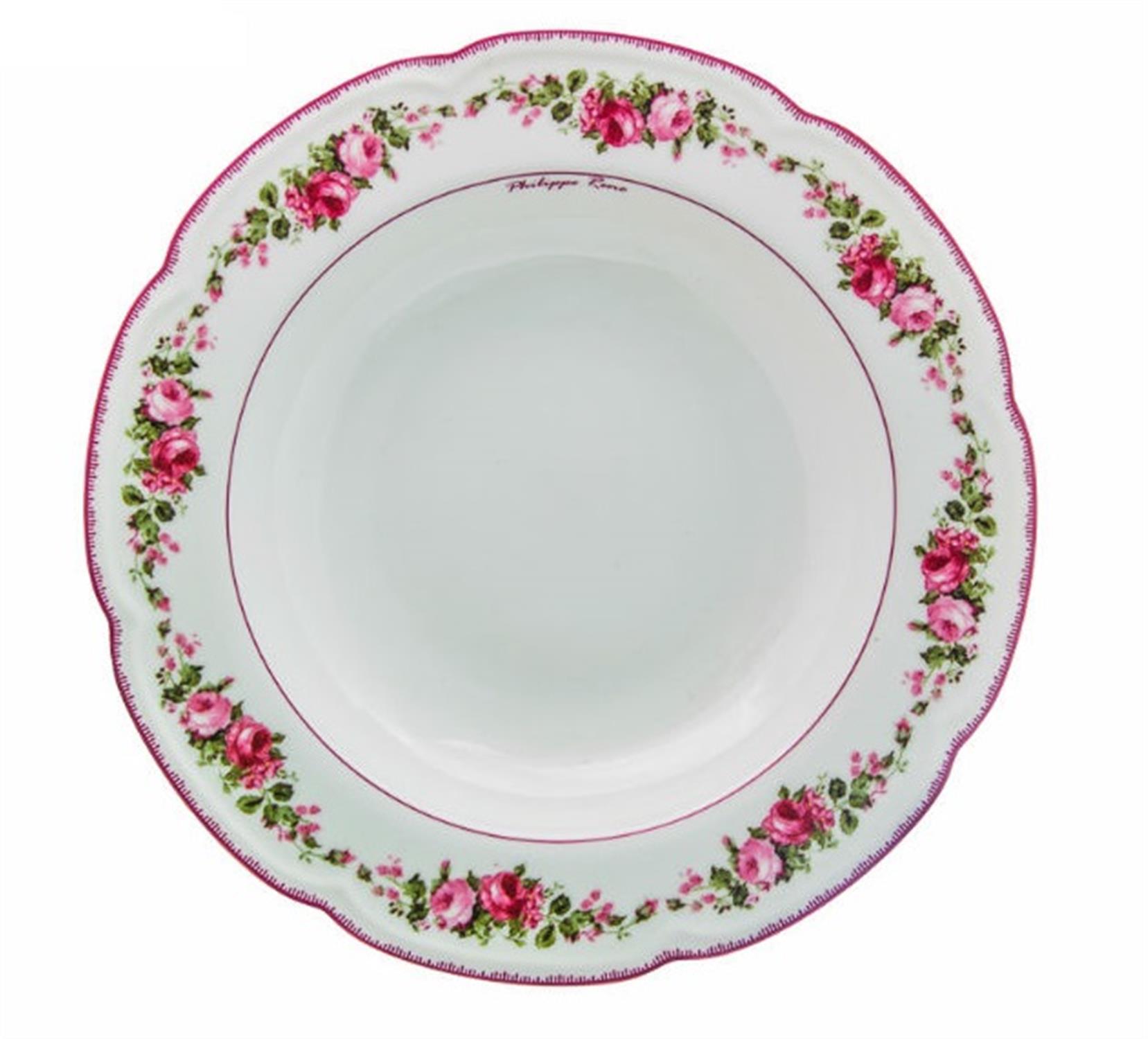 Πιάτο βαθύ Blossom πορσελάνινο φλοράλ/παστέλ ροζ Δ23cm