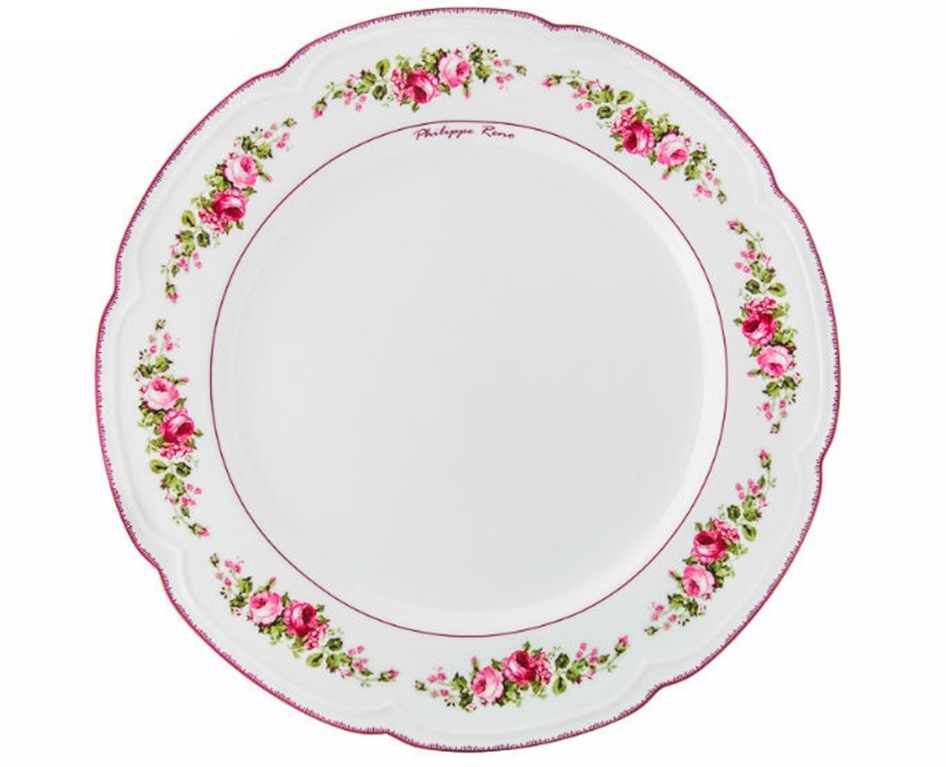 Πιάτο ρηχό Blossom πορσελάνινο φλοράλ/παστέλ ροζ Δ26cm