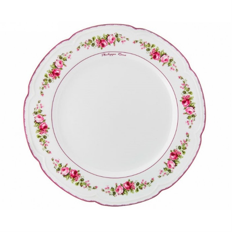 Πιατέλα στρογγυλή Blossom πορσελάνινη παστέλ ροζ/φλοράλ Δ31cm