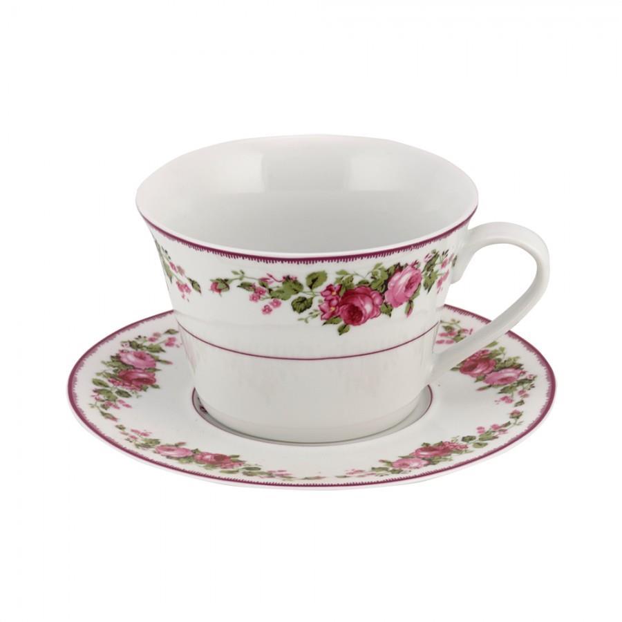 Φλιτζάνι πρωινού Blossom πορσελάνινο παστέλ ροζ/φλοράλ