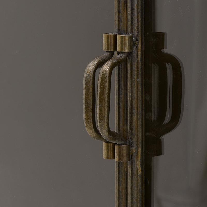 Βιτρίνα μεταλλική/γυάλινη αντικέ χρυσή 50×37.5x174cm Inart 3-50-153-0002