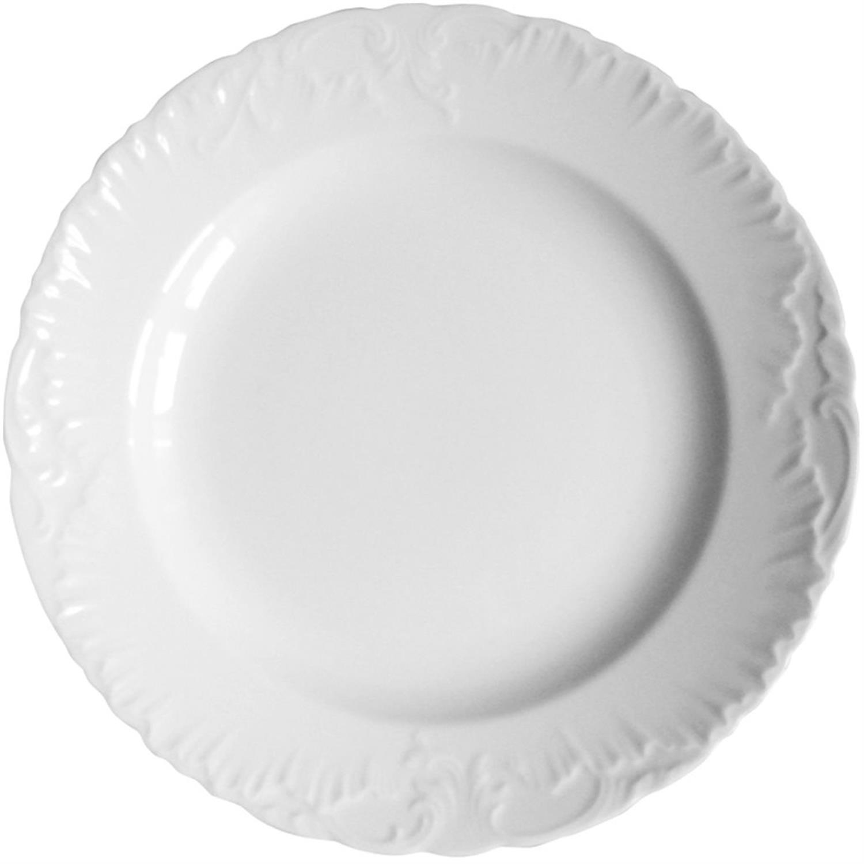 Πιάτο ρηχό Rococo πορσελάνινο λευκό