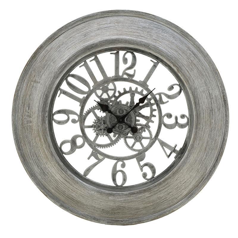 Ρολόι τοίχου pl αντικέ ασημί 65x5cm Inart 3-20-925-0014