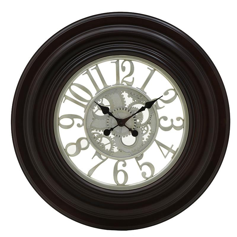 Ρολόι τοίχου pl μπορντώ/σαμπανί 75x5cm Inart 3-20-925-0015
