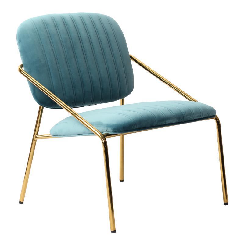 Καρέκλα βελούδινη/μεταλλική μπλε/χρυσή 63x67x74cm Inart 3-50-991-0019
